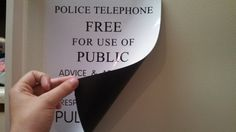 Full-sized TARDIS sign - magnet for refrigerator or car $7.00 on Etsy