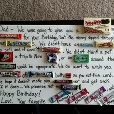 Happy 50th Birthday Dad!!  (Thanks for the idea Pinterest!!)