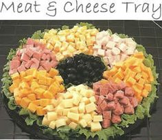 meat cheese tray a combination