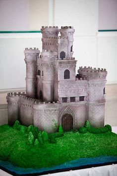 Castle cake. Perfect for Dad's birthday