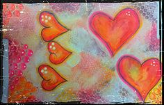 Red hearts folder