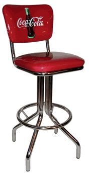 Coca-Cola Chair Seatback Bar Stool - click image to enlarge