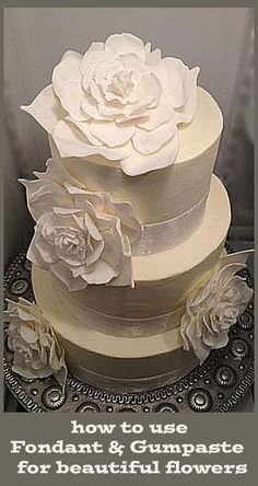 how to use Fondant and Gumpaste for beautiful flowers.