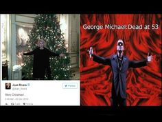 """Joan Rivers Is Alive! Tweets 12/25/16 - The Same Day George Michael """"Passes Away """" - YouTube"""