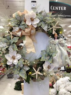 "Check It Out West Coast!  Sea Breeze 36"" Christmas Wreath  design by Christian Rebollo for store 2870"