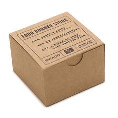 Four Corner Store 12 exp Color Negative, four rolls of process color film. Candle Packaging, Cool Packaging, Coffee Packaging, Jewelry Packaging, Brand Packaging, Packaging Design, Branding Design, Bakery Branding, Bottle Design
