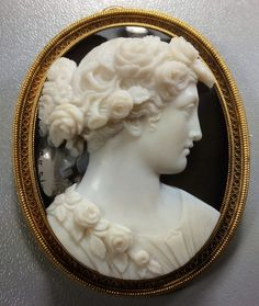 In the Swan's Shadow: Hardstone Cameo: Flora by Luigi Rosi