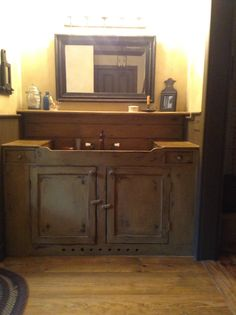 Primitive and colonial bathrooms on pinterest primitive for Mckie wing roth home designs
