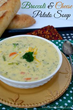 Broccoli & Cheese Potato Soup Recipe
