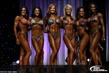 The amazing line up of women from the Figure Competition from the Arnold Classic this year! Go ladies!