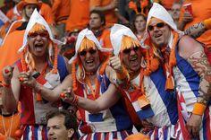 Dutch 'Oranje' fans, Ice skating stadium Thialf - Heerenveen, The Netherlands
