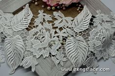 Guipure lace trim with flowers and leaves/Venise Lace/Wedding lace/Wide Lace/Vintage Lace/Antique Lace/Lace Fabric/Lace by the yard, GL-39