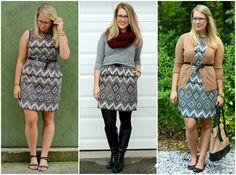 3 ways to wear a patterned dress