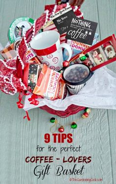 These 9 tips will help you put together the perfect coffee lovers gift basket. Your coffee loving friends will be so pleased to get such a personal gift. thegardeningcook.com #DunkinToTheRescue #ad