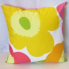 Unikko Marimekko pillow cover in authentic fabric from Finland, Large Unikko,  get 30% off second one, FREE SHIPPING Canada and US by mummiquilts on Etsy https://www.etsy.com/listing/167630331/unikko-marimekko-pillow-cover-in