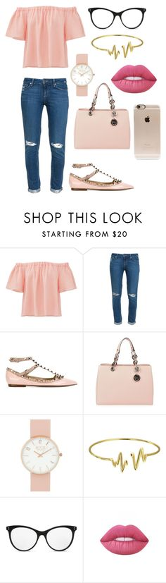 """""""rose"""" by cris08 on Polyvore featuring moda, Rebecca Taylor, Paige Denim, Valentino, MICHAEL Michael Kors, Bling Jewelry, STELLA McCARTNEY, Lime Crime y Incase"""