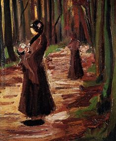 Two Women In The Woods Vincent Van Gogh Reproduction | 1st Art Gallery