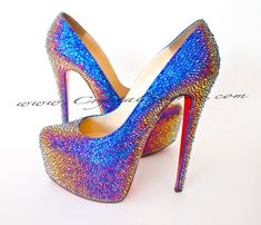 Authentic Christian Louboutin Daffodile Daffodil Shoes made with Swarovski Crystal SZ 36 dream shoes Shoe Boots, Shoes Heels, Pumps, Sexy Heels, High Heels, Luis Pasteur, Wedding Heels, Dream Shoes, Christian Louboutin Shoes