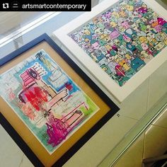 Repost @artsmartcontemporary  My 'Bystanders' print next to @killthesofa. Nice to meet you on Thursday mate.  Pop Up Exhibition Day #4!  We are right next to Notting Hill come and treat yourself with a strong dose of contemporary art on this sunshiny day!