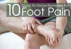 Foot pain is mainly caused with overworking limbs & there are other reasons too. Here are top home remedies for foot pain which tend to offer immediate relief.