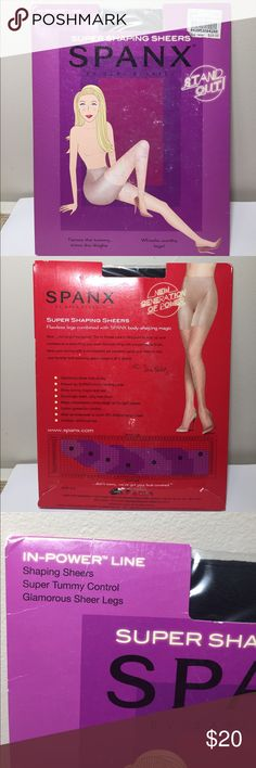 Spanx In Power Line Super Shaping Sheer pantyhose Spanx In Power Line Super Shaping Sheer pantyhose color-Black SPANX Intimates & Sleepwear