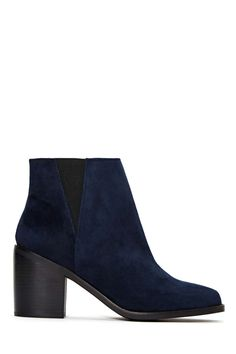Shellys London Lovenia Boot - Navy | Shop Shoes at Nasty Gal