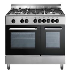Buy Baumatic Twin Cavity Dual Fuel Range Cooker Stainless Steel from Appliances Direct - the UK's leading online appliance specialist Kitchen Oven, Kitchen Dining, Kitchen Ranges, Dining Room, Stainless Steel Appliances, Kitchen Appliances, Freestanding Cooker, Dual Fuel Range Cookers, Domestic Appliances