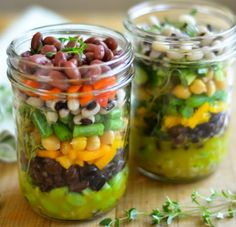 Layered 7-Bean Mason Jar Salad - Stupid Simple Mason Jar Salads - Photos