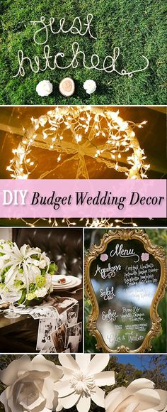 DIY Budget Wedding Decor • Wedding decorating ideas for the budget minded DIY bride and groom! Love these!