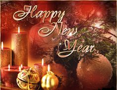 Happy New Year Greeting Card 2014