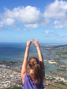 at xi top of the world (In Hawaii) #auburn #aualphaxidelta #alphaxidelta