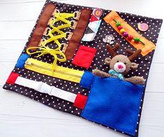 Fidget blanket Deer amigurumi Activity blanket Sensory quilt Fidget quilt for Dementia blanket Sensory blanket for Toddler Busy blanket Baby