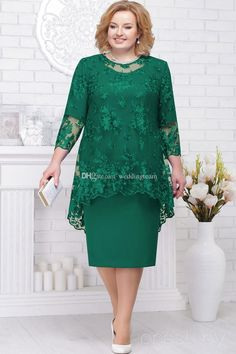 Hunter long sleeves lace mother of the bride dresses sheath two pieces wedding guest dress knee length plus size evening gowns the mother of the bride dress the mother of the bride dresses from weddingteam dhgate. Mother Of Bride Outfits, Mother Of Groom Dresses, Mothers Dresses, Bride Groom Dress, Bride Gowns, Lace Bride, Mother Of The Bride Plus Size, Mother Of The Bride Gown, Vestidos Plus Size