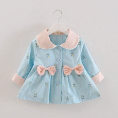 Cheap children coat, Buy Quality girls outerwear directly from China girls fashion jacket Suppliers: New Girl's Fashion Jackets Girls Outerwear Coats Trench Girls Jackets Children's Coat Spring Autumn Baby Coat Baby Outfits, Baby Girl Party Dresses, Dresses Kids Girl, Kids Outfits Girls, Cute Outfits For Kids, Baby Girl Dress Patterns, Baby Dress Design, Toddler Fashion, Kids Fashion