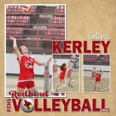 Custom Volleyball Scrapbook Page by MelsHappyPlace on Etsy