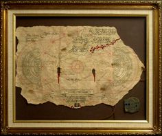 Framed Goonies map and doubloon movie prop by nwlimited on Etsy. $250.00, via Etsy. This would be awesome to have on my wall!
