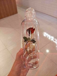 Beauty and the Beast - Rose Bottle Parfum Victoria's Secret, Girly Things, Cool Things To Buy, Disney Cups, Cute Water Bottles, Cute Cups, Pink Aesthetic, Beauty And The Beast, Perfume Bottles