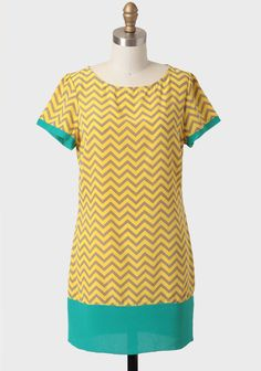 Modern Chevron Shift Dress