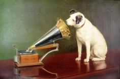 nipper the dog with rca victor 'talking machine'