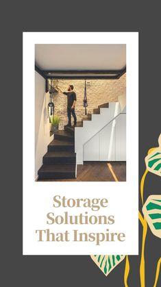 Interior Exterior, Bathroom Interior Design, Living Room Interior, Kitchen Storage Solutions, Kitchen Cabinet Storage, Modern Staircase, Staircase Design, New Home Designs, Cool House Designs