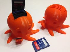 This is too cool!     Cute SDCard Holder by tjstroker - Thingiverse #3dPrintedAnimals