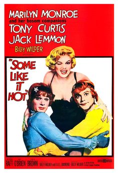 Marilyn Monroe - Some Like It Hot - Home Theater Decor - Classic Comedy Movie Poster Print  13x19 - Vintage Movie Poster - Jack Lemmon