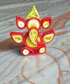 Eco Friendly Ganesha, Ganesh Tattoo, Quilling Art, Diys, Cover, Crafts, Decor, Stud Earrings, Manualidades