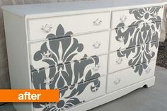 Before & After: Dresser Goes From College Party to Pretty