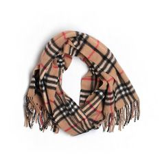 ed587353444 Pre-owned Burberry Scarf Wrap (€155) ❤ liked on Polyvore featuring