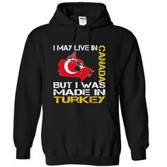 I May Live in Canada But I Was Made in Turkey - #gift for guys #gift exchange. CHEAP PRICE => https://www.sunfrog.com/States/I-May-Live-in-Canada-But-I-Was-Made-in-Turkey-kocvlhuvoh-Black-Hoodie.html?68278