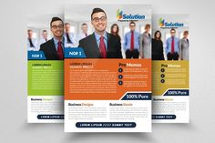 Business Strategy Flyer Template by Business Flyers on @creativemarket