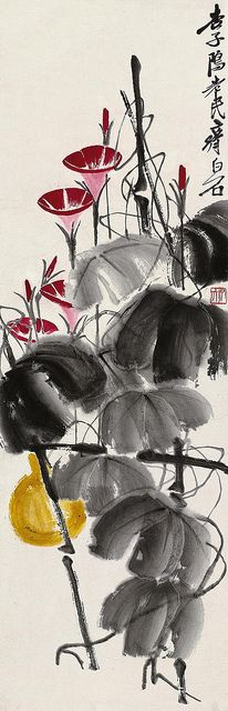 齐白石 牵牛花 by China Online Museum - Chinese Art Galleries, via Flickr