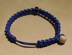 FREE-HOW knot tutorial -- adjustable bracelet out of one cord -- BY: PAS A PAS DE CREATIV' KNOTS