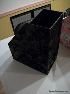 DIY magazine boxes out of cardboard